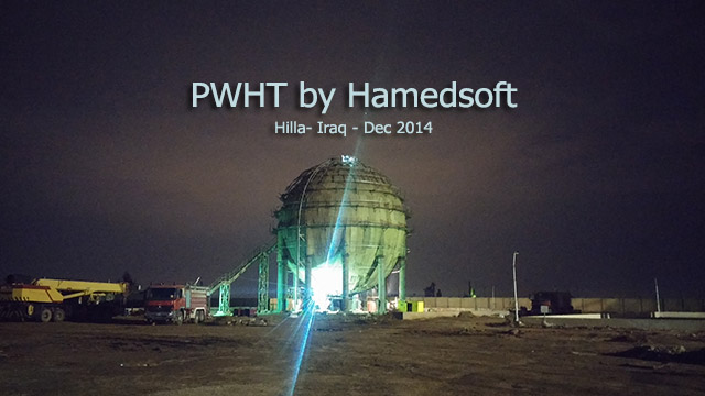 PWHT on spherical tank in Hilla-IRAQ