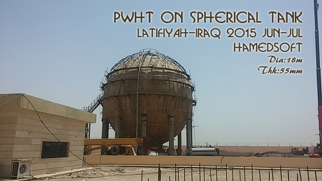 PWHT on two spherical-tanks in Latifyah-IRAQ