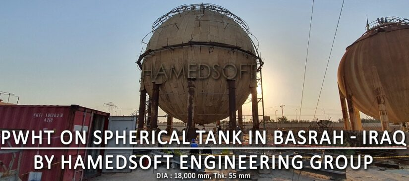 Stress relieve on spherical tank in Basrah